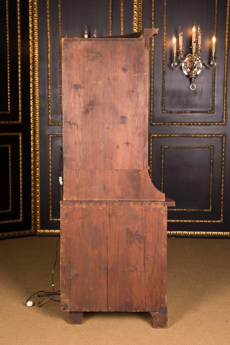 Early 19th Century Classic Biedermeier Corner Vitrine from South Germany For Sale 4