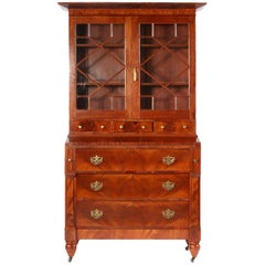 Early 19th Century Classical English Regency Bookcase Secretary Desk