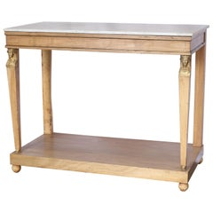 Early 19th Century Console Table with Marble Top