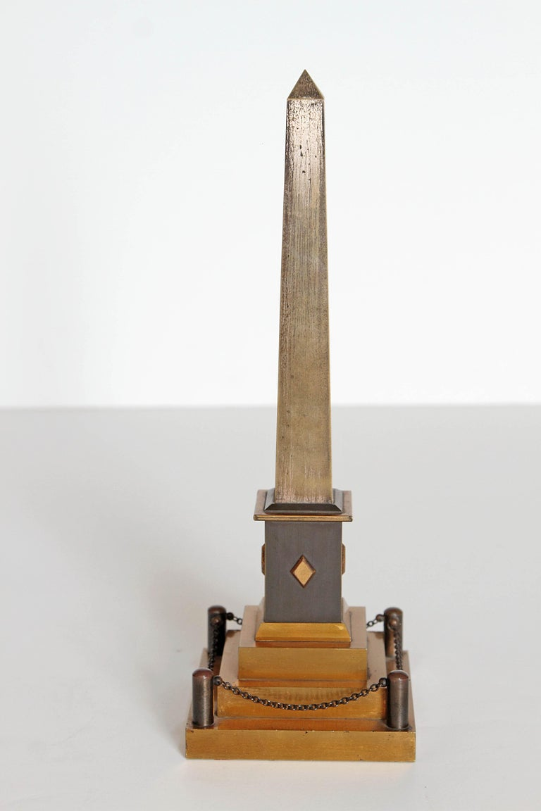 Early 19th Century Continental Grand Tour Obelisk Thermometer For Sale 1