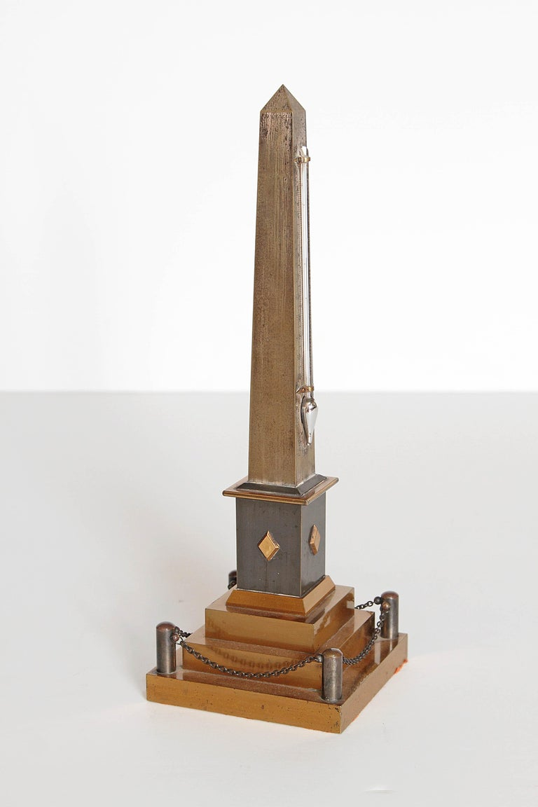 Early 19th Century Continental Grand Tour Obelisk Thermometer For Sale 2