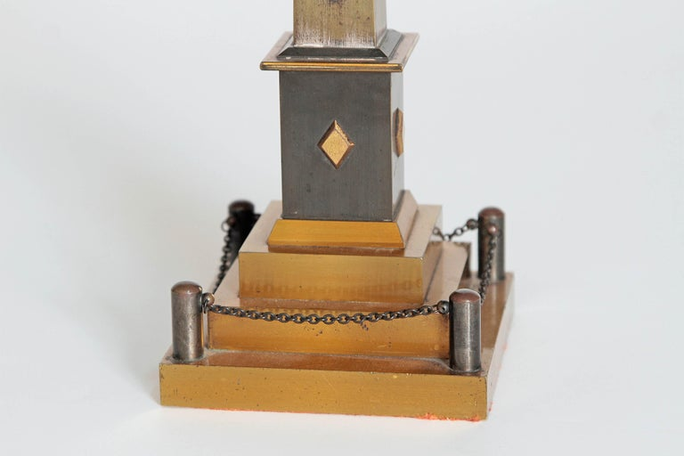 Early 19th Century Continental Grand Tour Obelisk Thermometer For Sale 3