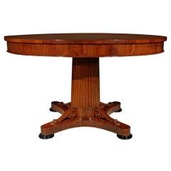 Early 19th Century Continental Mahogany Center Table