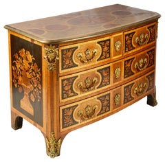 Early 19th Century Continental Marquetry Commode