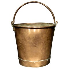 Early 19th Century Copper-Clad Miners Bucket, United Kingdom Circa 1820