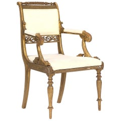 Early 19th Century Danish Giltwood Armchair by Gustav Friederich Hetsch