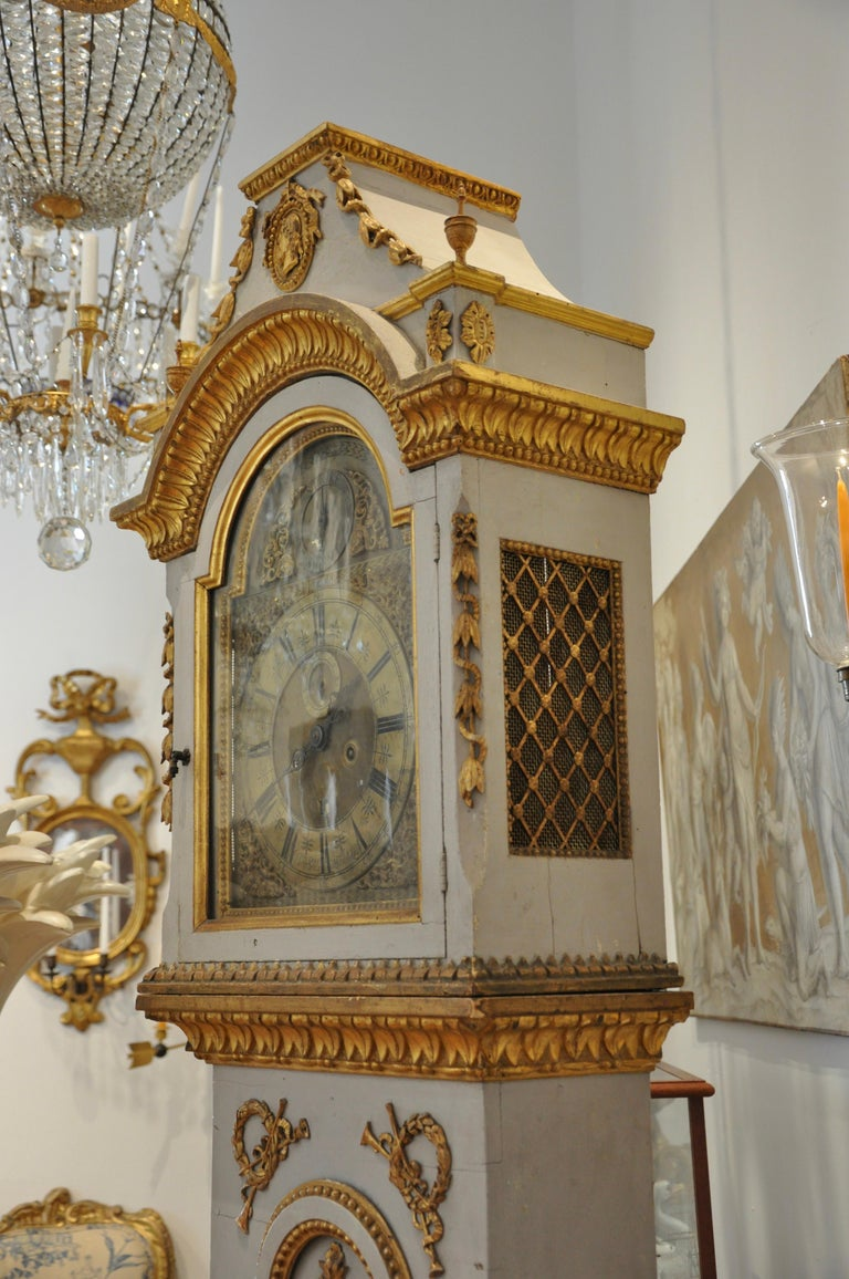 Early 19th Century Danish Neoclassical Longcase Clock For Sale 5