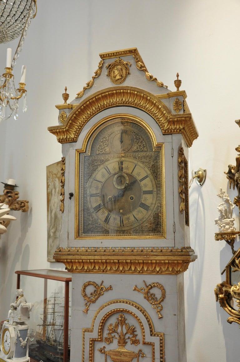 Early 19th Century Danish Neoclassical Longcase Clock For Sale 6