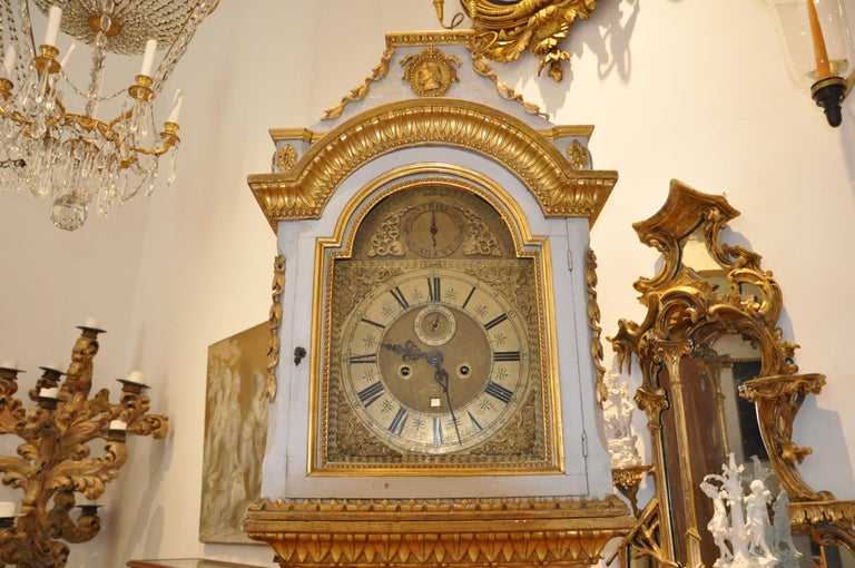 Brass Early 19th Century Danish Neoclassical Longcase Clock For Sale