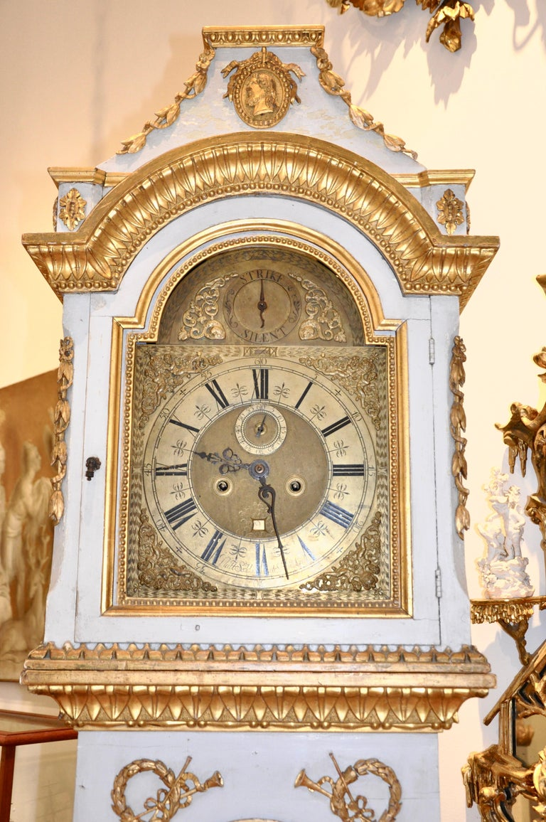 Early 19th Century Danish Neoclassical Longcase Clock For Sale 1