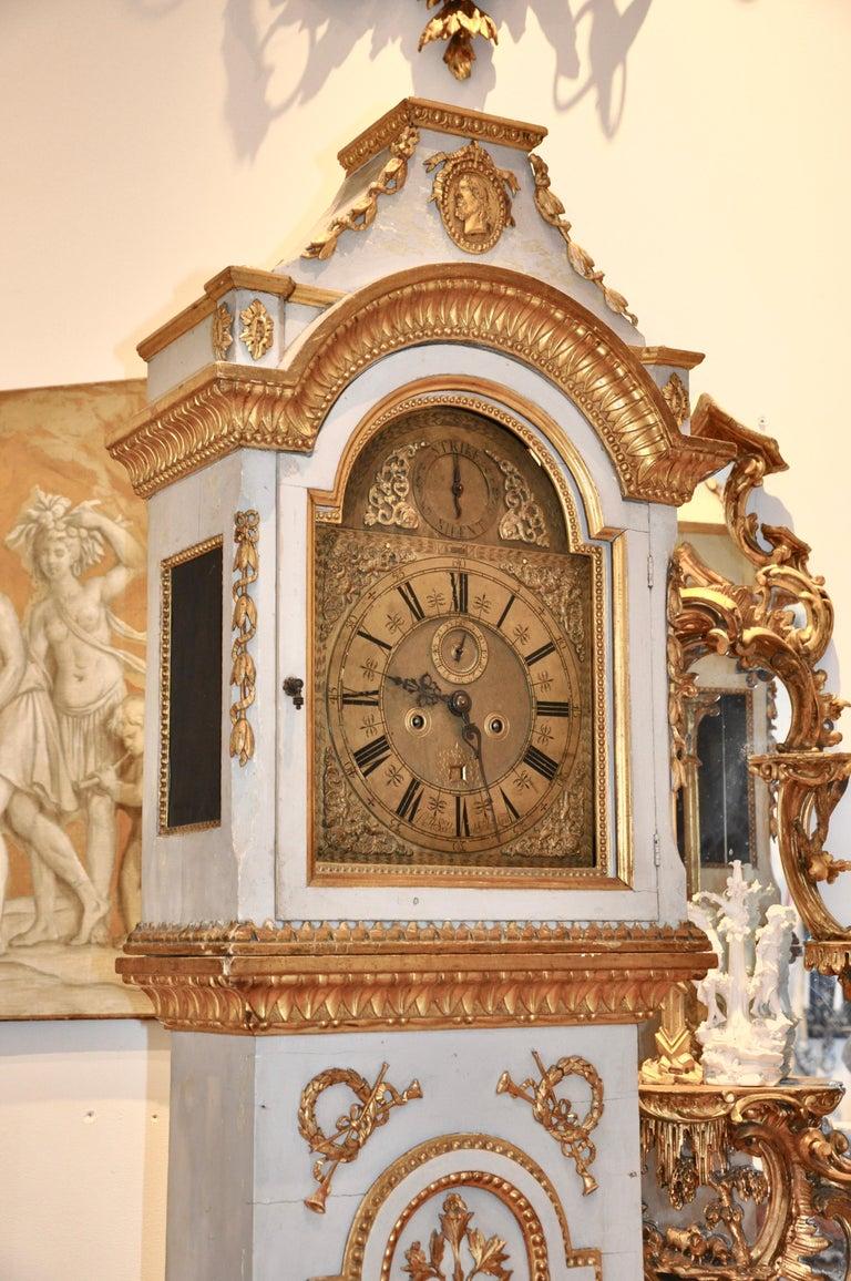 Early 19th Century Danish Neoclassical Longcase Clock For Sale 3