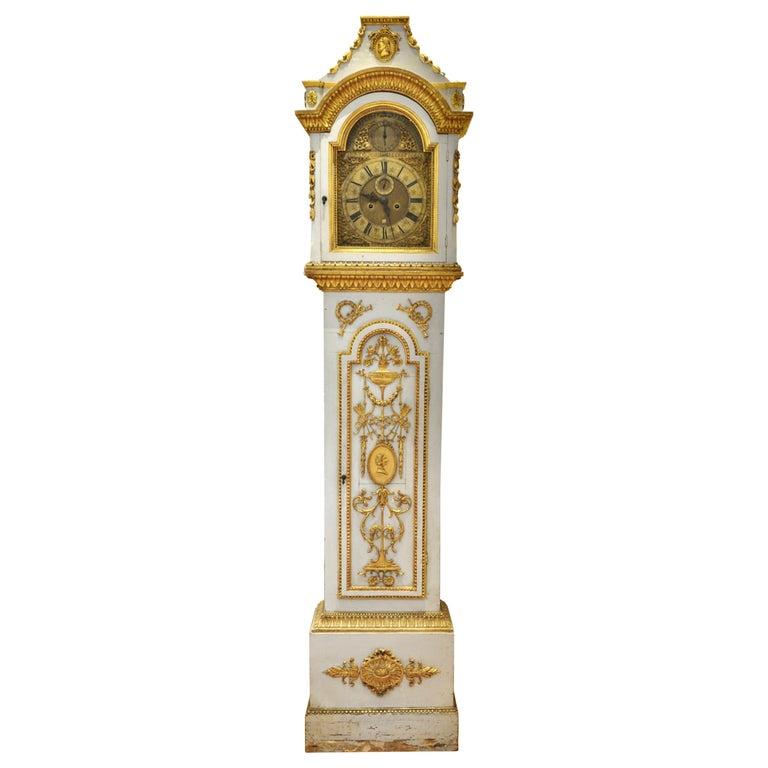 Early 19th Century Danish Neoclassical Longcase Clock For Sale