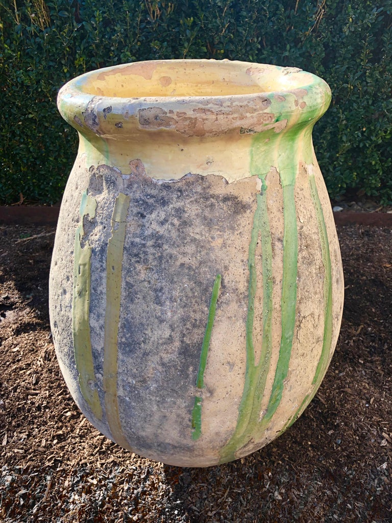 We love Biot Pots in all sizes and glazes and this little one is a rare beauty. Hand-thrown from terracotta in the early 19th century and from the Provençal town of Biot, famous since the 16th century for its jars to hold olive oil, this one has a