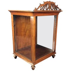 Early 19th Century Directoire Italian Display Case Walnut Tabletop Showcase