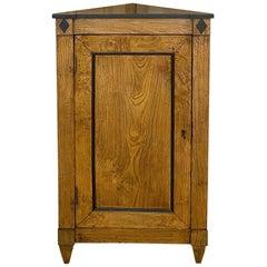 Early 19th Century Directoire Period Ebonized Corner Cabinet