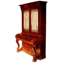 Early 19th Century Duncan Phyfe Grecian Plain Style Mahogany Secretary Bookcase