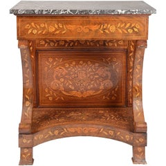Early 19th Century Dutch Marquetry Console Table