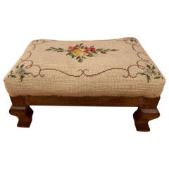 Early 19th Century Embroidered Footrest