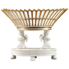 Early 19th Century Empire Bisque and Porcelain Table Centerpiece