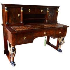 "Early 19th Century Empire Desk   Called  ""Bureau a Gradin"""
