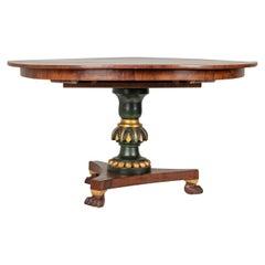 Early 19th Century Empire Dutch Mahogany Dining Table