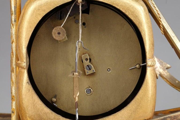 Early 19th Century Empire Ormolu Clock The Sailor For Sale 8