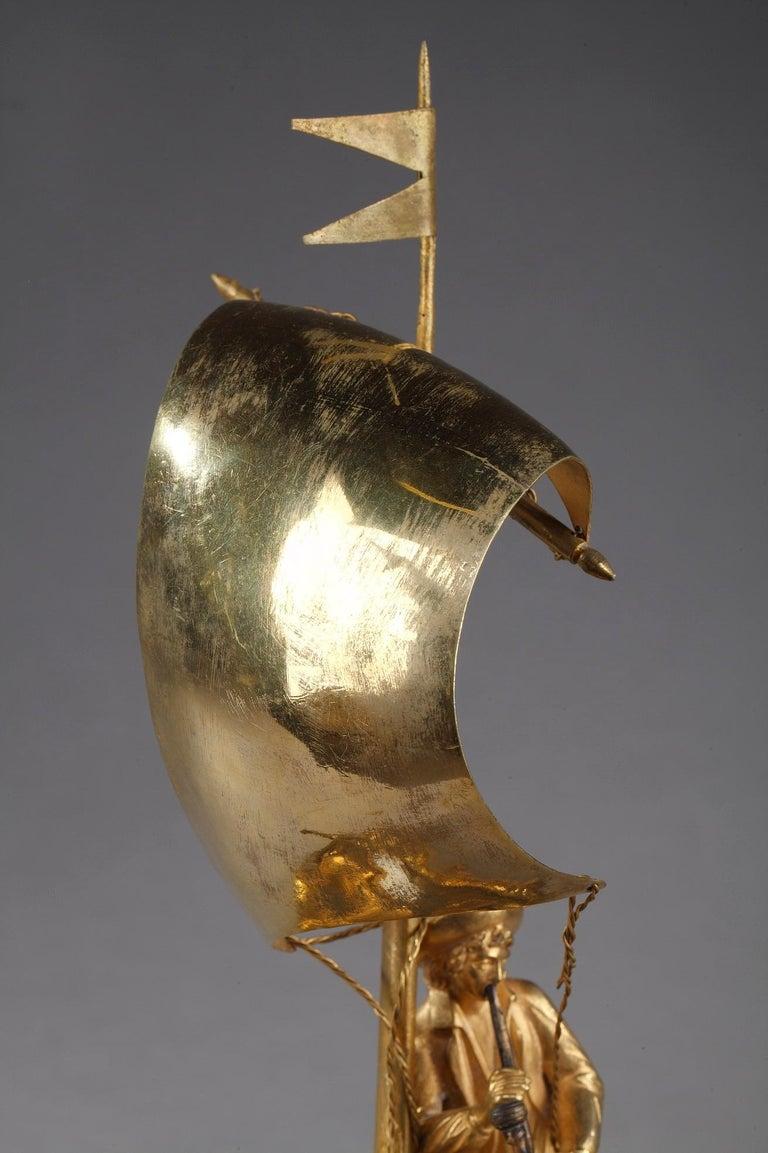 Early 19th Century Empire Ormolu Clock The Sailor For Sale 2