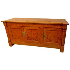 Early 19th Century Empire Period French Provincial Burled Ashwood Buffet