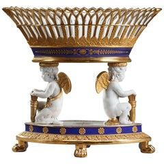 Early 19th Century Empire Porcelain Centerpiece