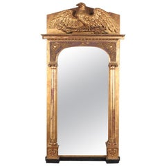 Early 19th Century Empire Style Gilt Pier Mirror