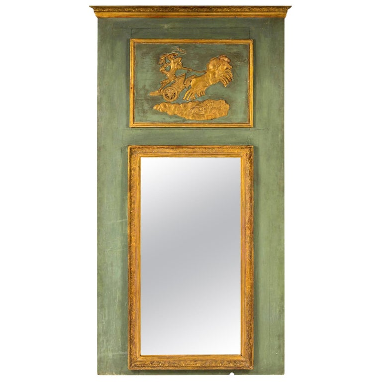 Early 19th Century Empire Trumeau Mirror For Sale