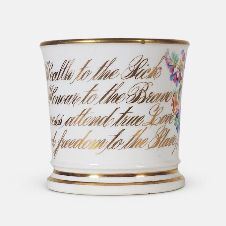 Early 19th Century English Abolitionist Anti-Slavery Mug For Sale 1