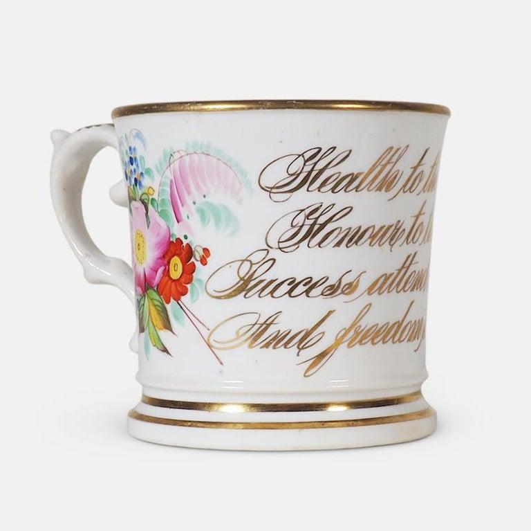 Early 19th Century English Abolitionist Anti-Slavery Mug For Sale 4