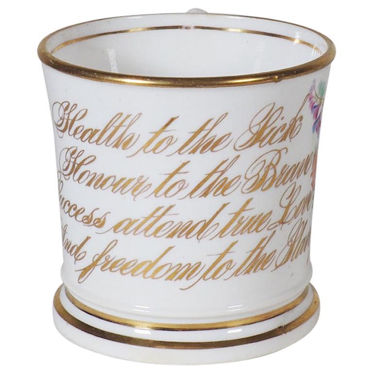 Early 19th Century English Abolitionist Anti-Slavery Mug For Sale