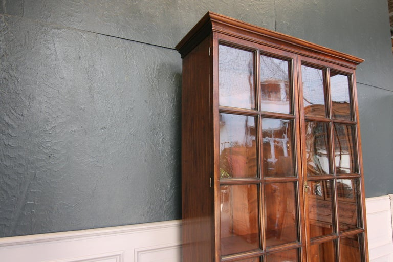 Early 19th Century English China Cabinet Made of Mahogany For Sale 4