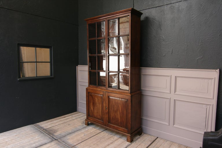 Early 19th Century English China Cabinet Made of Mahogany For Sale 6