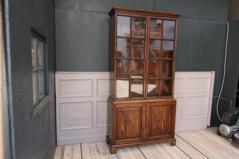 Early 19th Century English China Cabinet Made of Mahogany For Sale 7