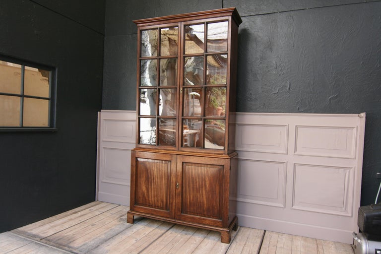 Early 19th Century English China Cabinet Made of Mahogany For Sale 8