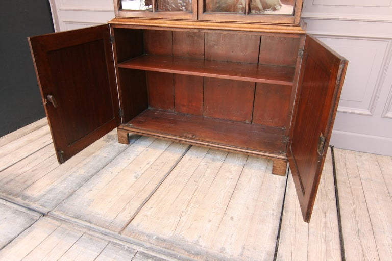 Glass Early 19th Century English China Cabinet Made of Mahogany For Sale