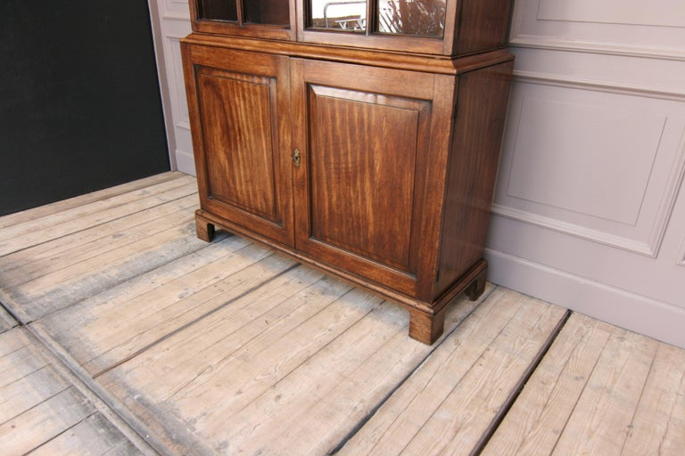Early 19th Century English China Cabinet Made of Mahogany For Sale 1