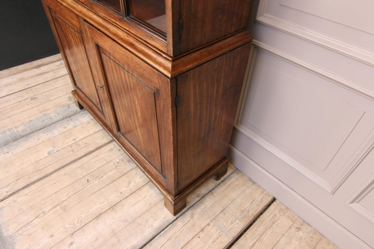 Early 19th Century English China Cabinet Made of Mahogany For Sale 3