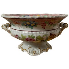 Early 19th Century Compote by Hicks and Meigh with Royal Coat of Arms Mark