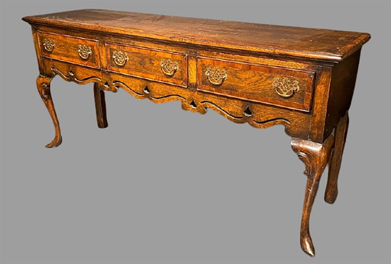 Queen Anne Early 19th Century English Hunt-Board or Sideboard
