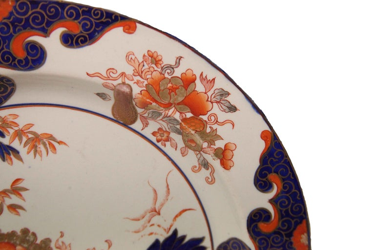 Early 19th Century English Ironstone Charger For Sale 1