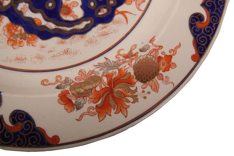 Early 19th Century English Ironstone Charger For Sale 2