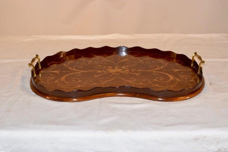 Georgian Early 19th Century English Mahogany Inlaid Tray