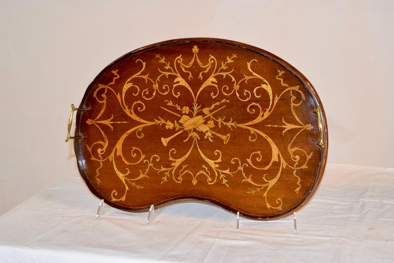Inlay Early 19th Century English Mahogany Inlaid Tray