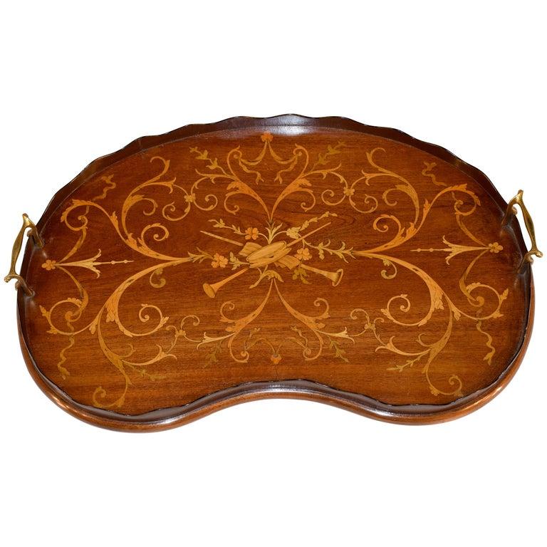 Early 19th Century English Mahogany Inlaid Tray