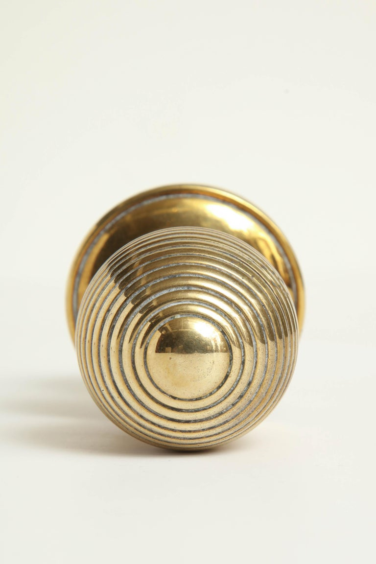 Early 19th Century English Regency Door Knobs with Escutcheon For Sale 3