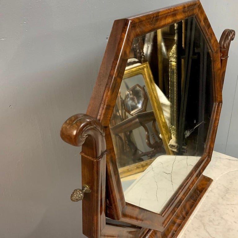 Mahogany Early 19th Century English Regency Dressing Table with Original Marble